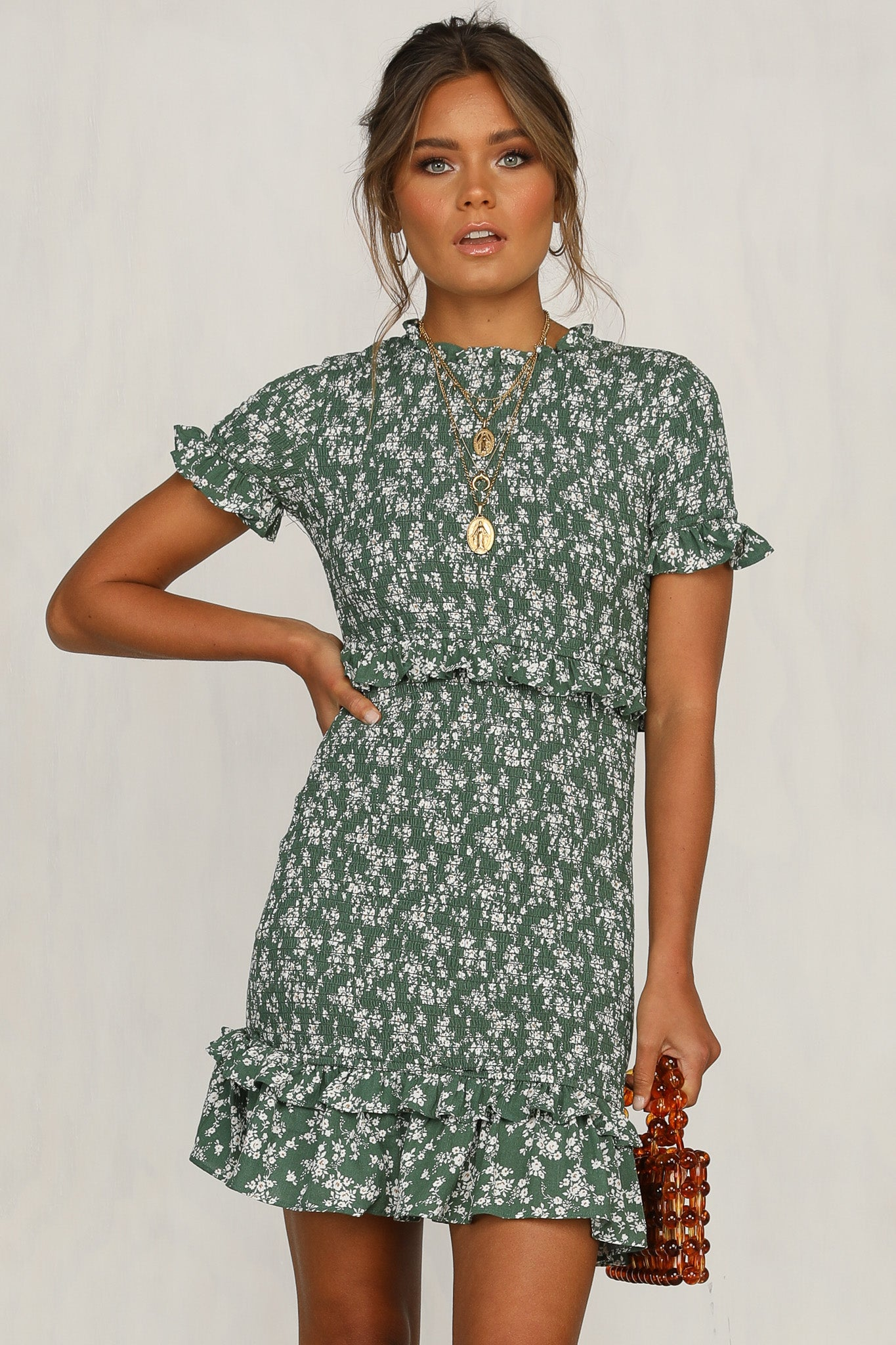 Old School Love Dress (Green)