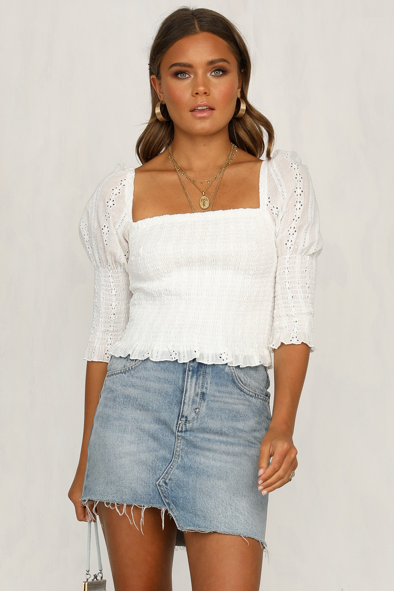White Lavender Top
