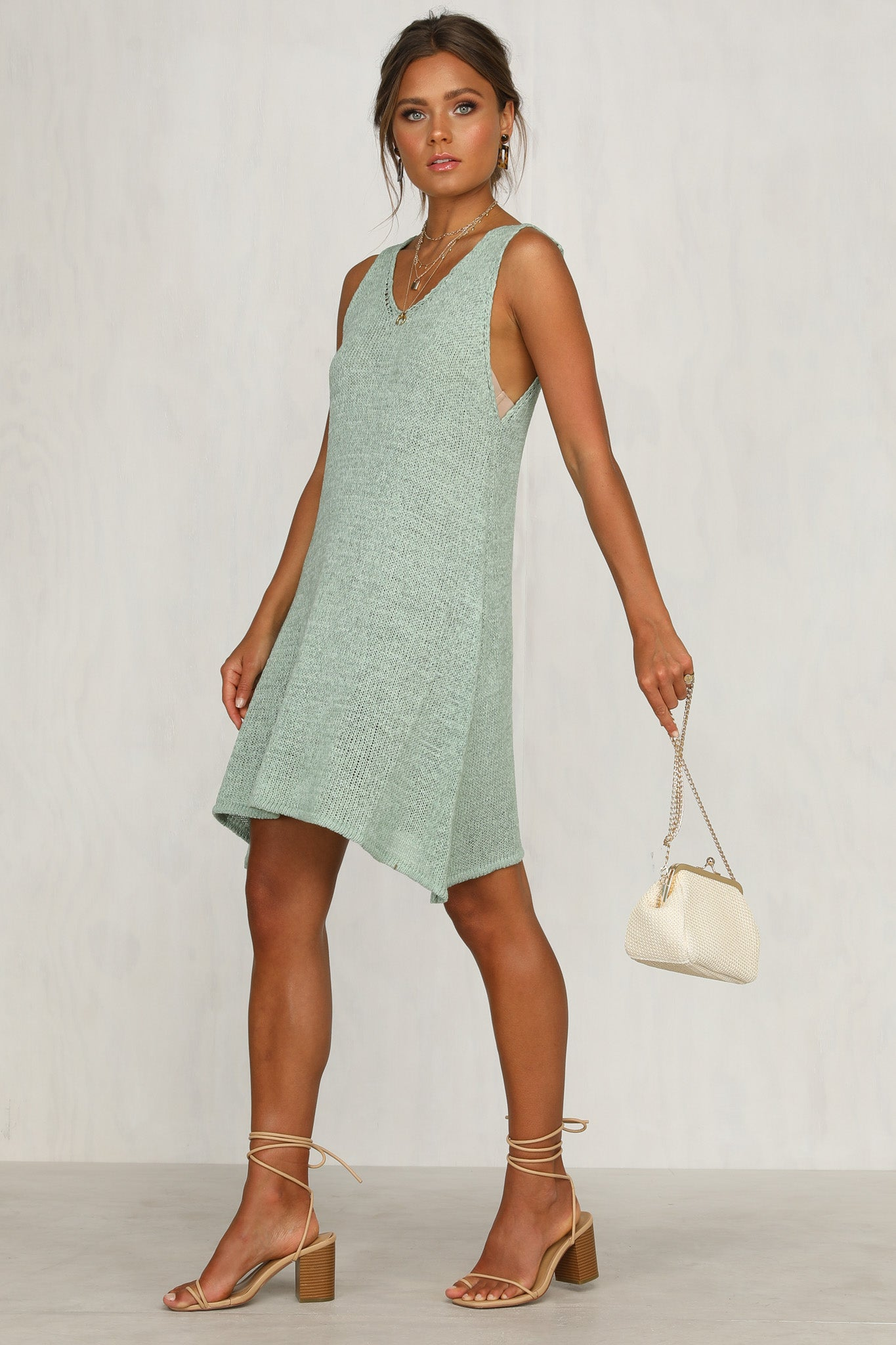 Super Eight Dress (Sage)