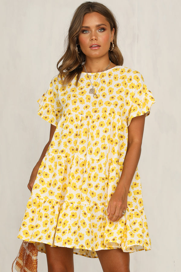 Georgie Dress (Yellow Floral)