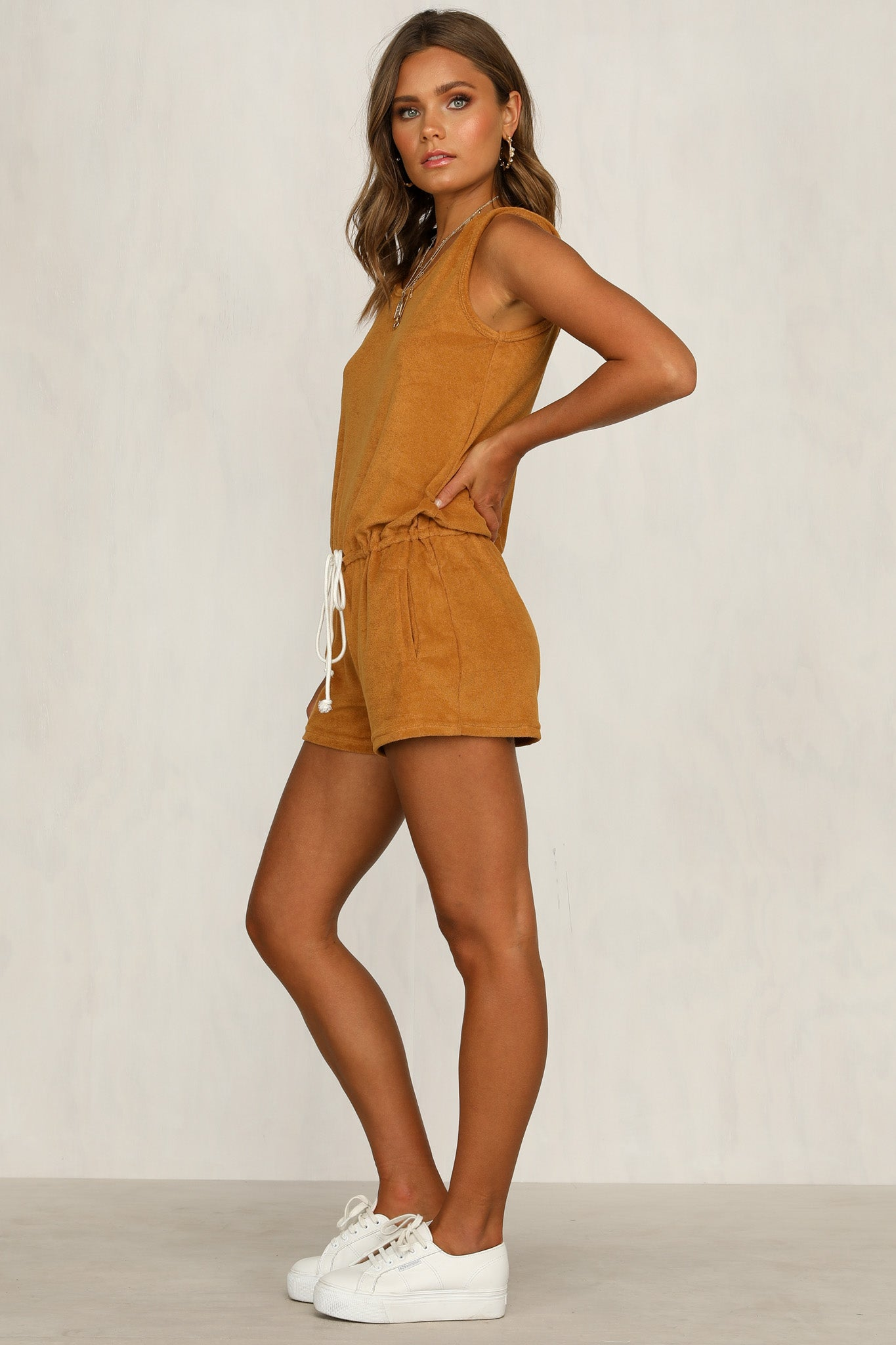 Baby Baby Playsuit (Mustard)