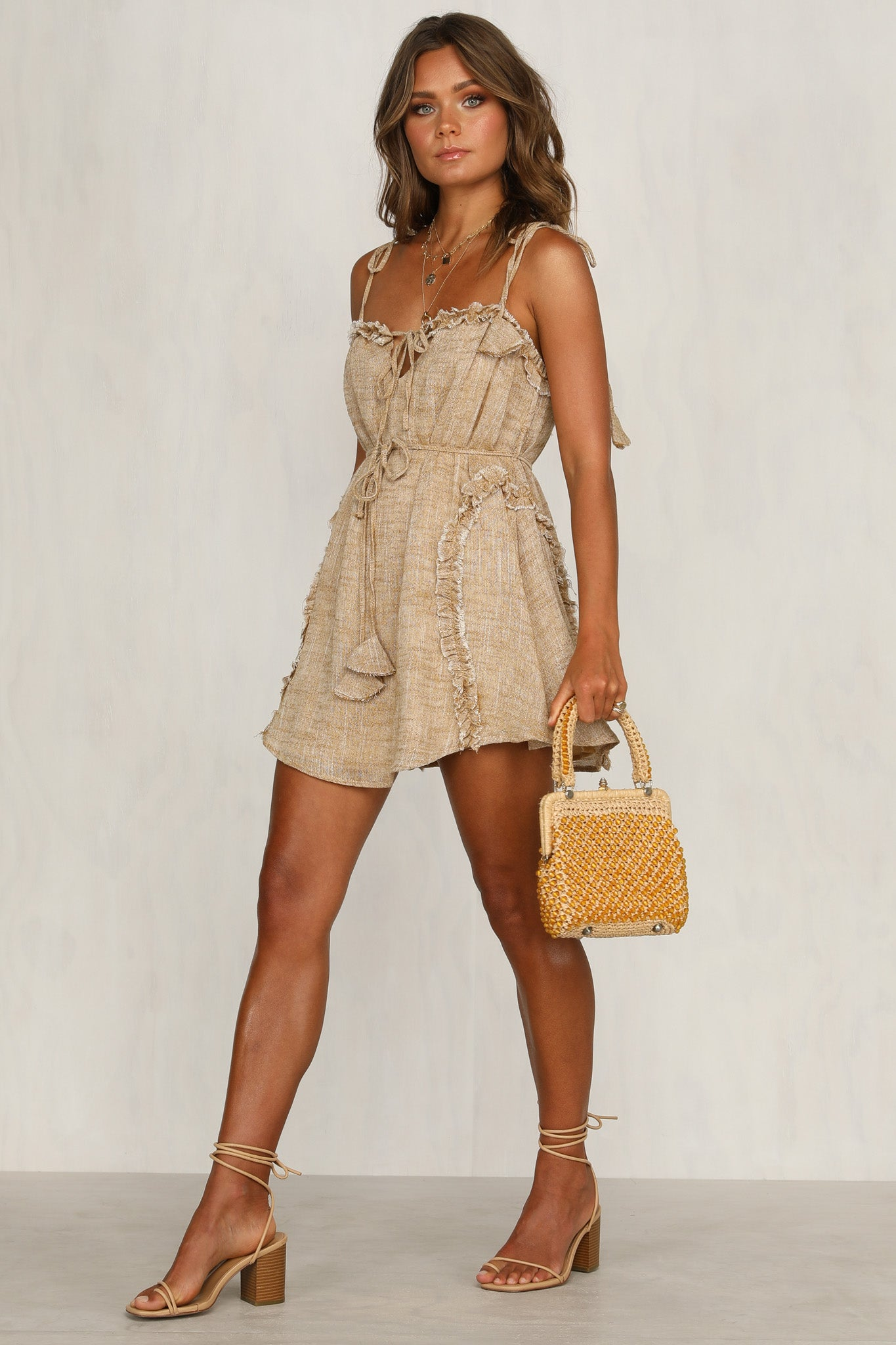 Delight Dress (Tan)