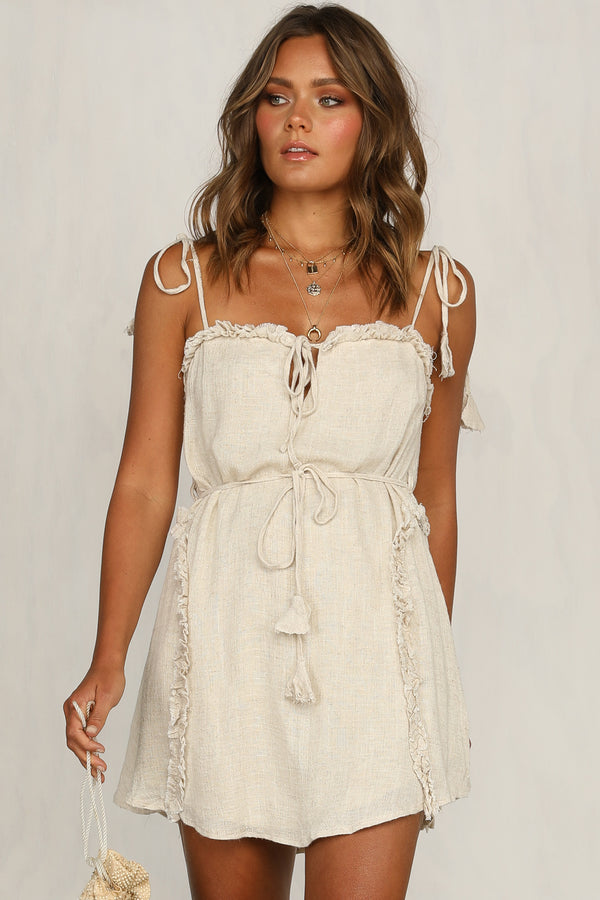 Delight Dress (Beige)