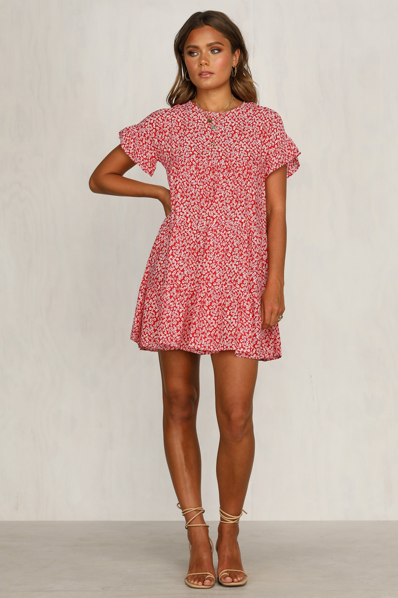 Georgie Dress (Red Floral)