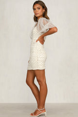 Marjorie Dress (Cream Polka Dot)