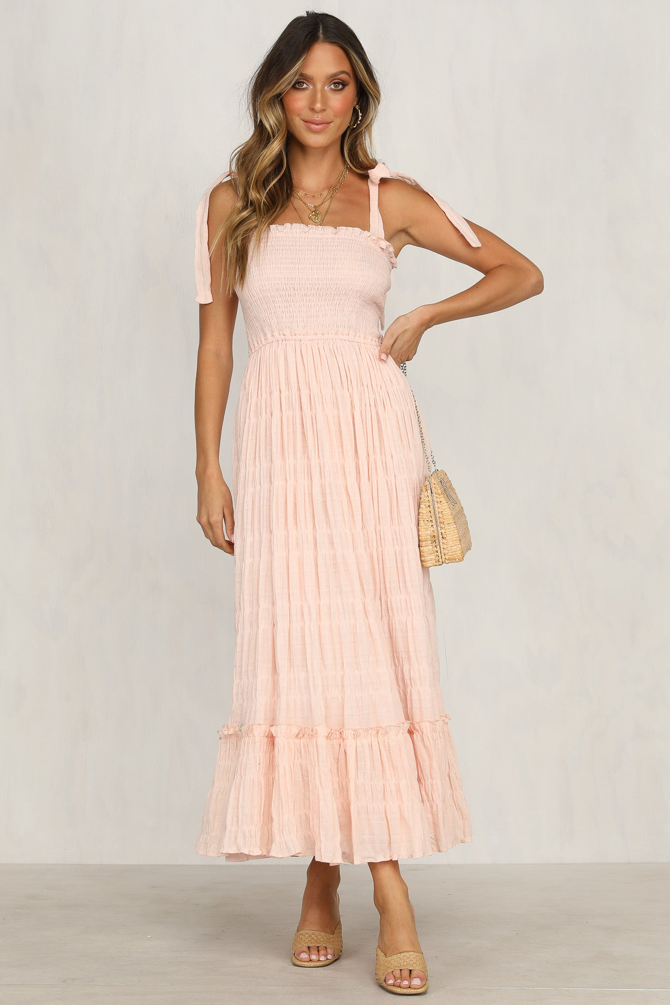 Come Undone Dress (Blush)