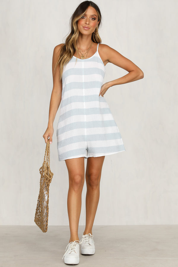 Paradise Playsuit (Blue Stripe)