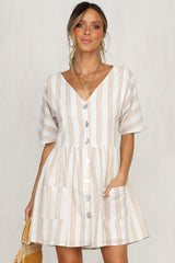 Perfect Timing Dress (Stripe)