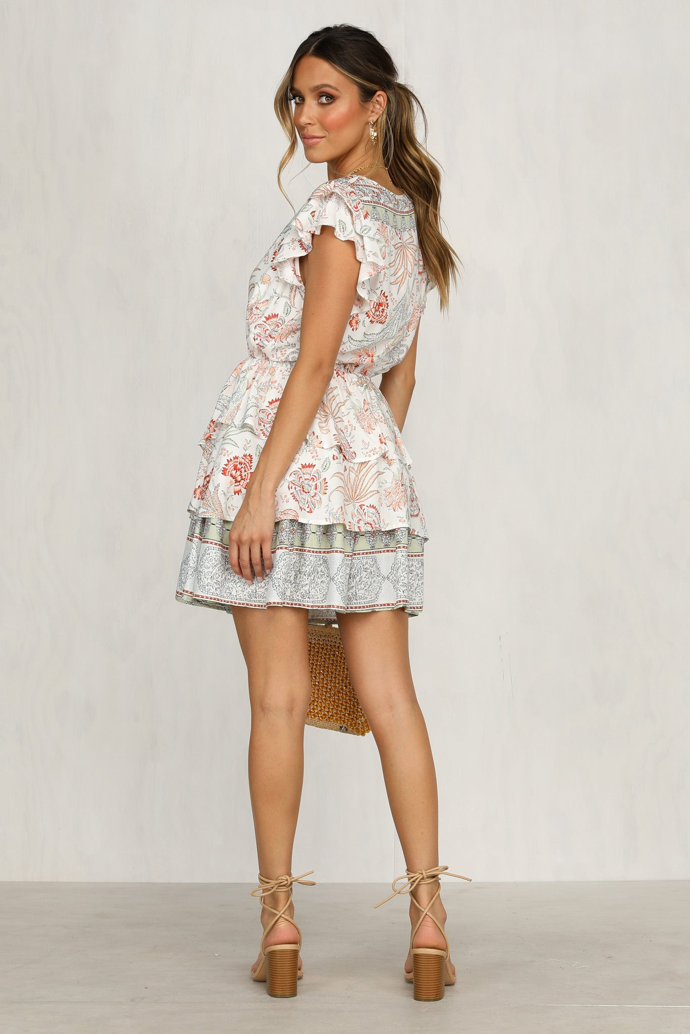 Lucky Last Dress (White Paisley)