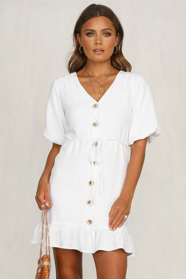 Feel The Love Dress (White)