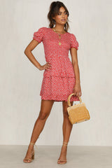 Good Time Dress (Red Floral)