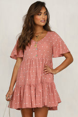Mixed Feelings Dress (Rose)
