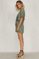Midsummer Playsuit (Khaki)