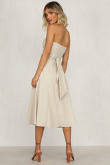 Hearts A Mess Dress (Beige)