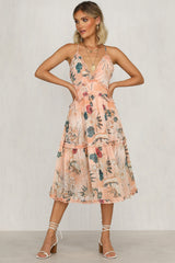 Harriette Dress (Pink Floral)