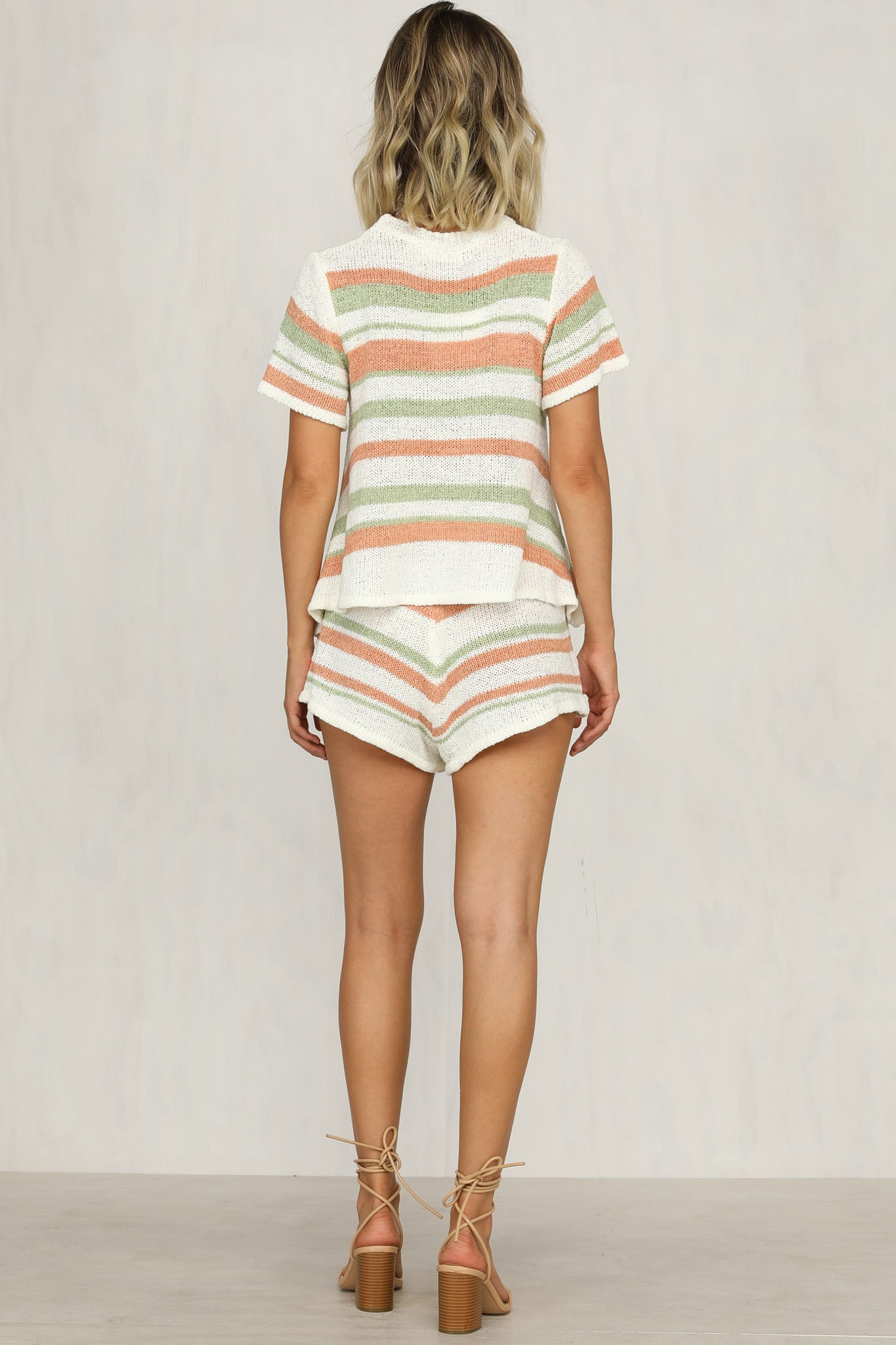 Cabello Knit Set (Multi Stripe)