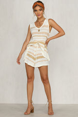 Hold Your Own Set (Beige Stripe)