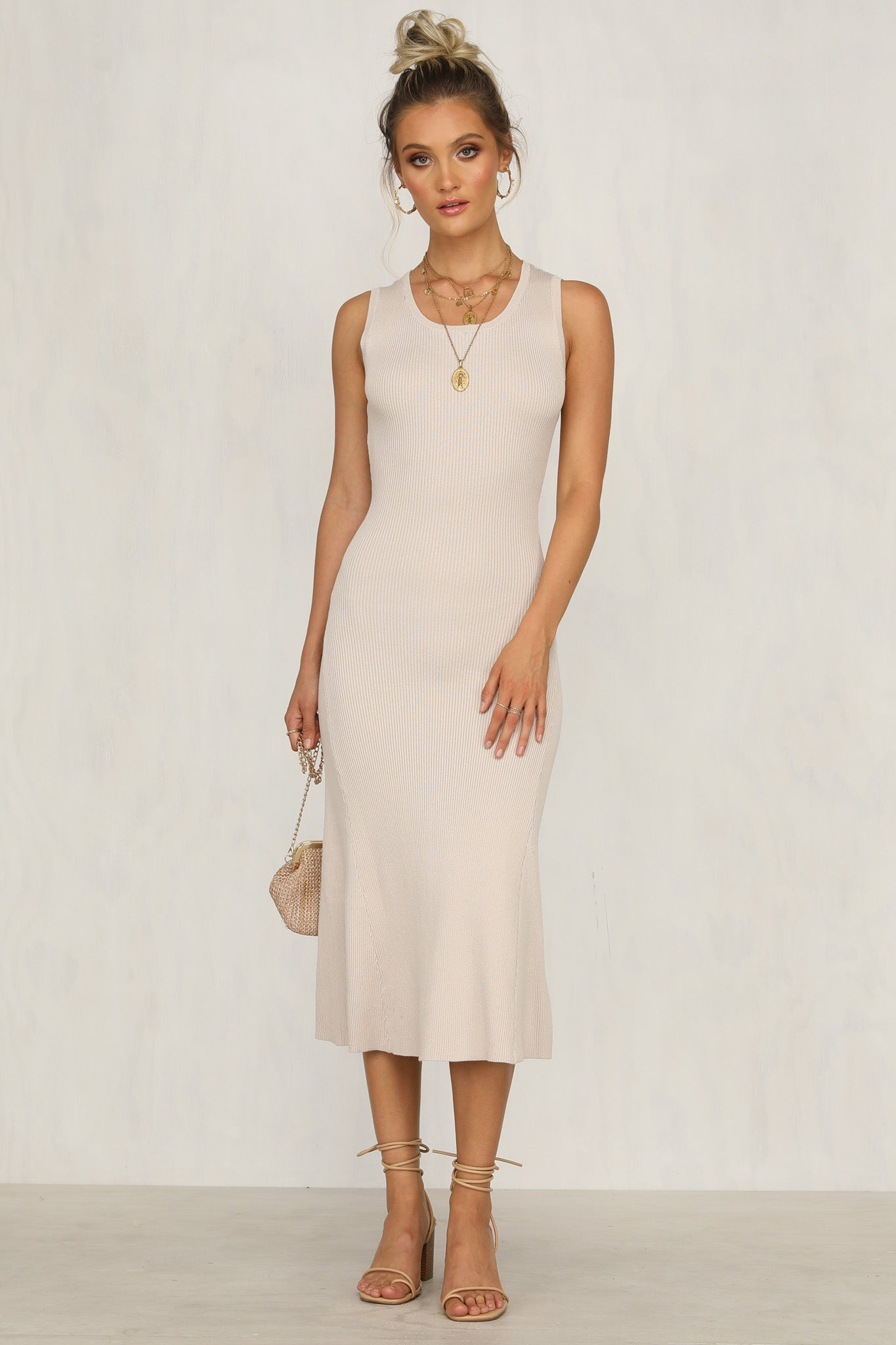 Mercy Dress (Beige)
