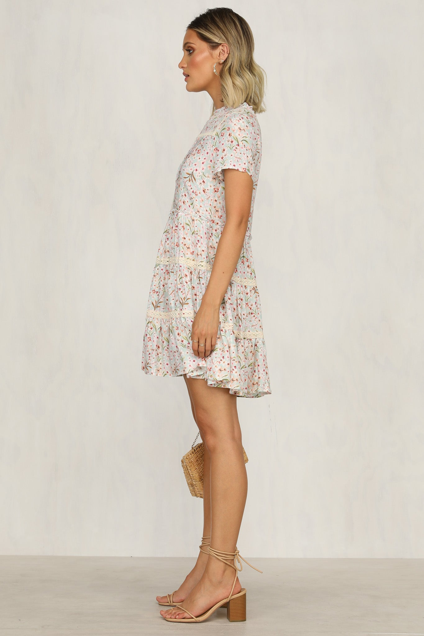 Make It A Date Dress (Blue Floral)