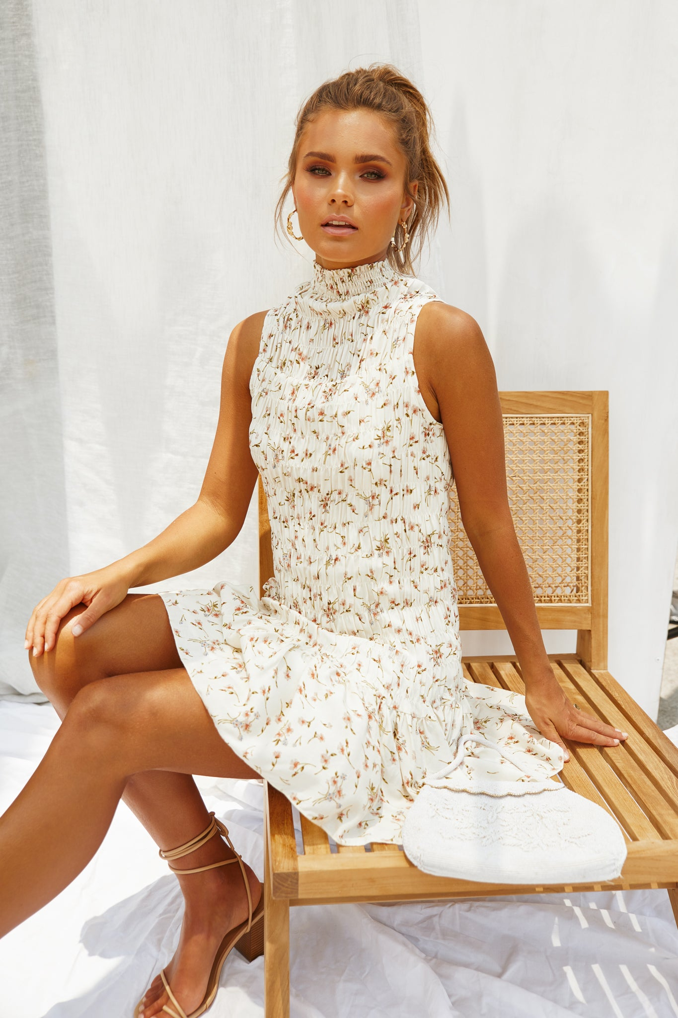 Roo Dress (Cream Floral)