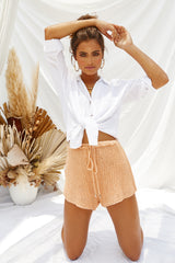 Casa Knit Shorts (Peach)