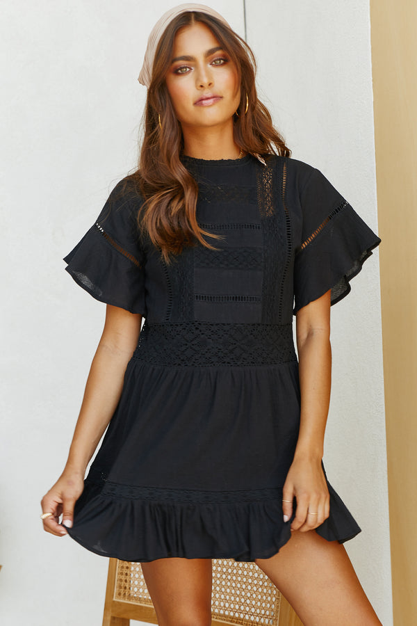 Wing Dress (Black)