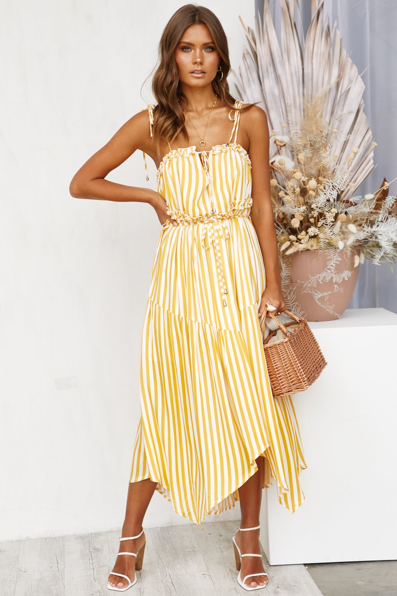 7e038f1849c534 French Quarter Dress (Yellow) – RunwayScout