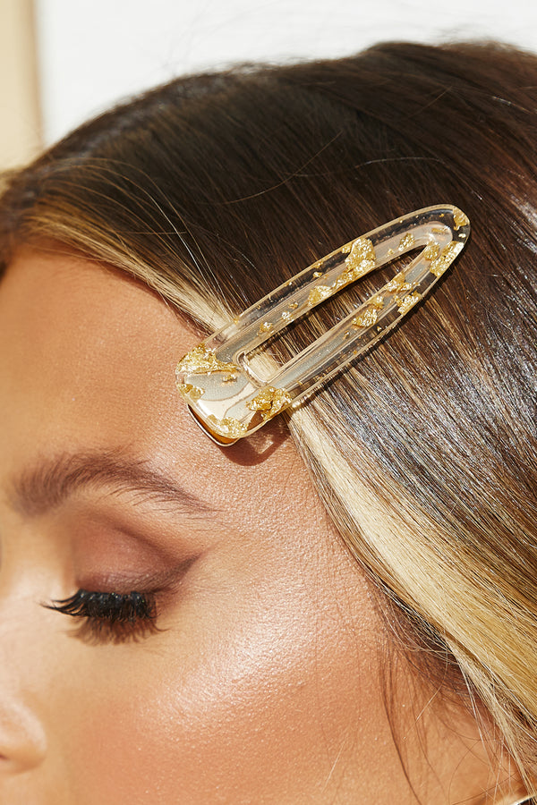 Think Like Me Hair Clip (Gold)