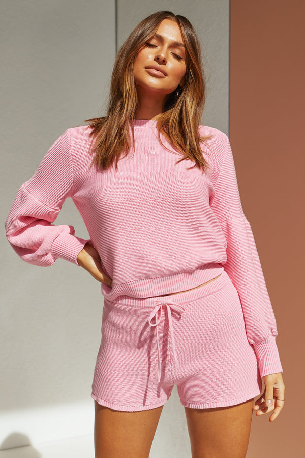 Hendrix Knit Top (Pink)