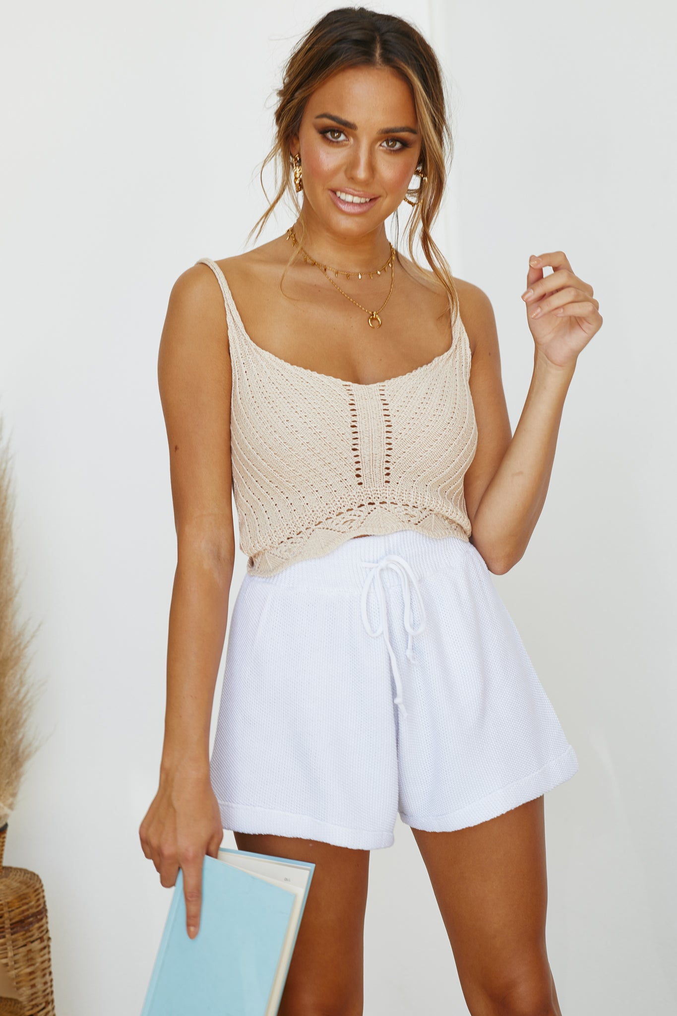 Cali Knit Shorts (Mist)