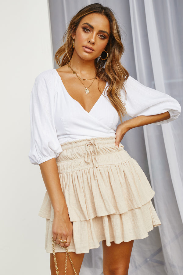 Breaking Free Skirt (Beige)