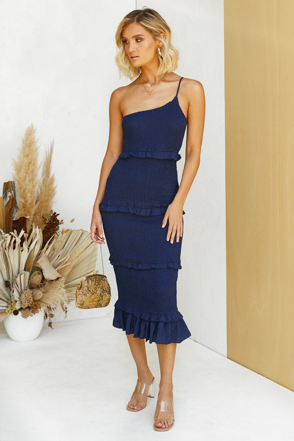 Jaw Dropper Dress (Navy)