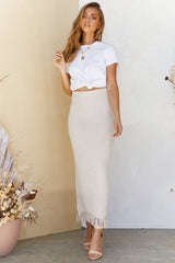 Empire Skirt (Beige)