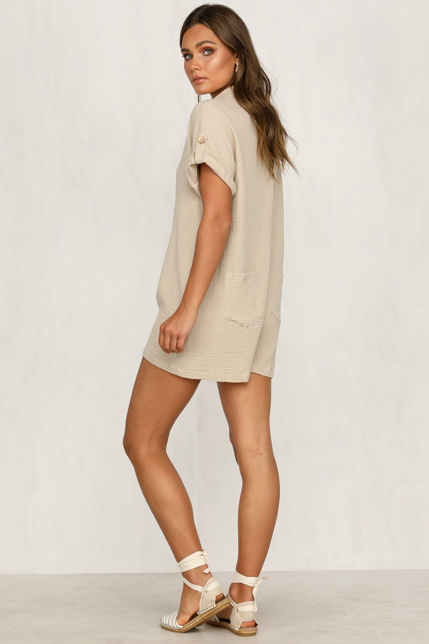Chantilly Playsuit (Beige)
