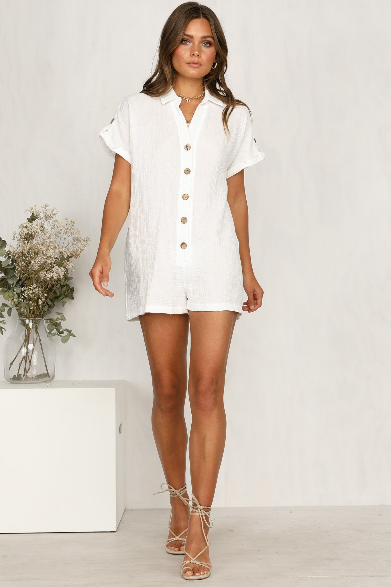6a51f1aa62 Chantilly Playsuit (White) – RunwayScout