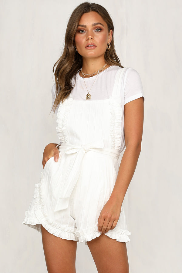 042e5fb26d2 Next Question Playsuit (White)