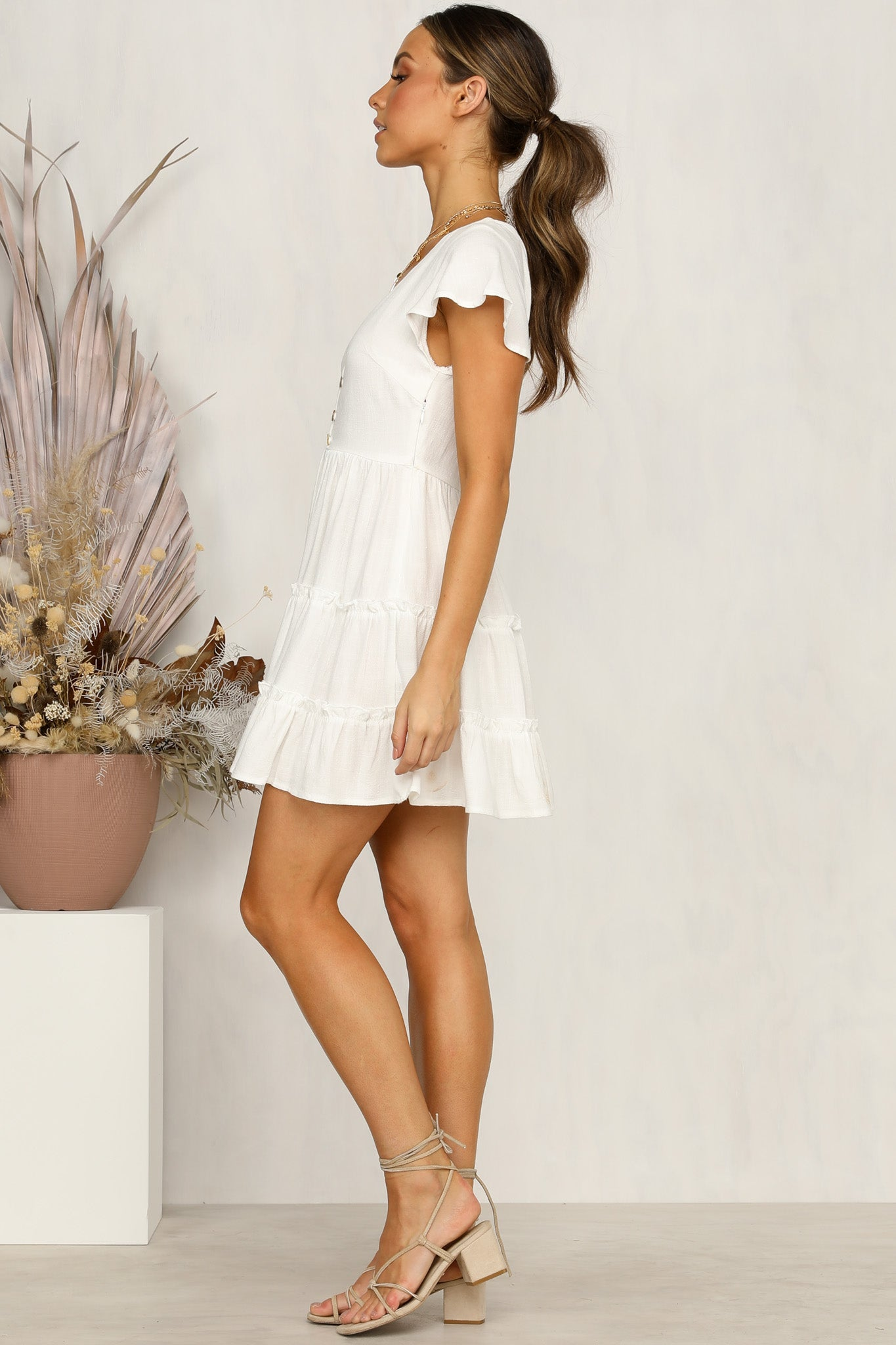 Perfect Score Dress (White)