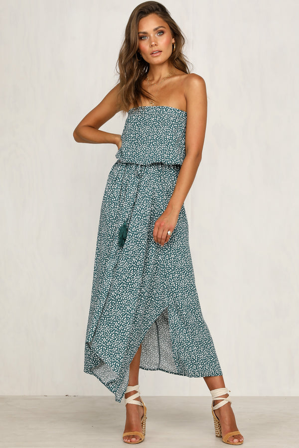 Call You Out Maxi Dress (Green)
