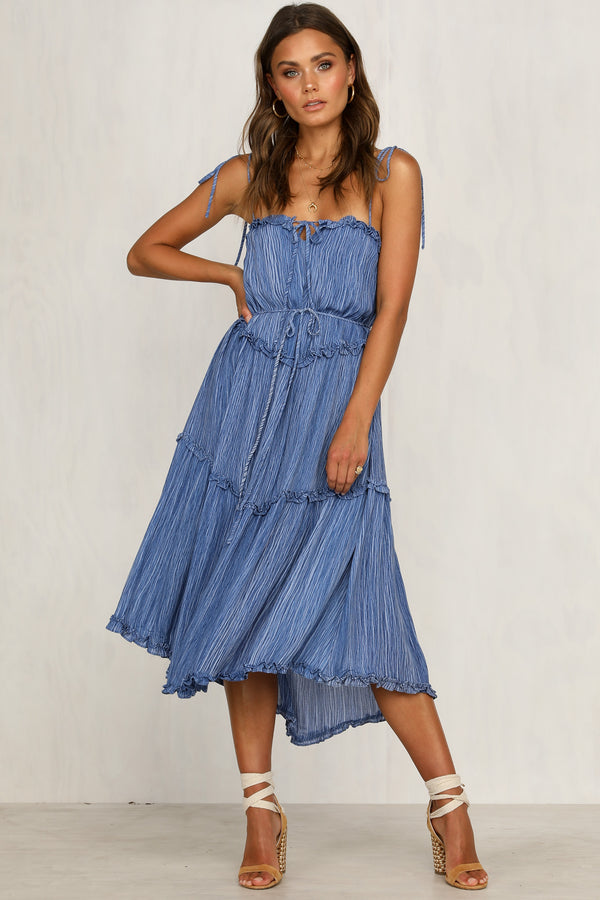 Drift Over Dress (Blue)