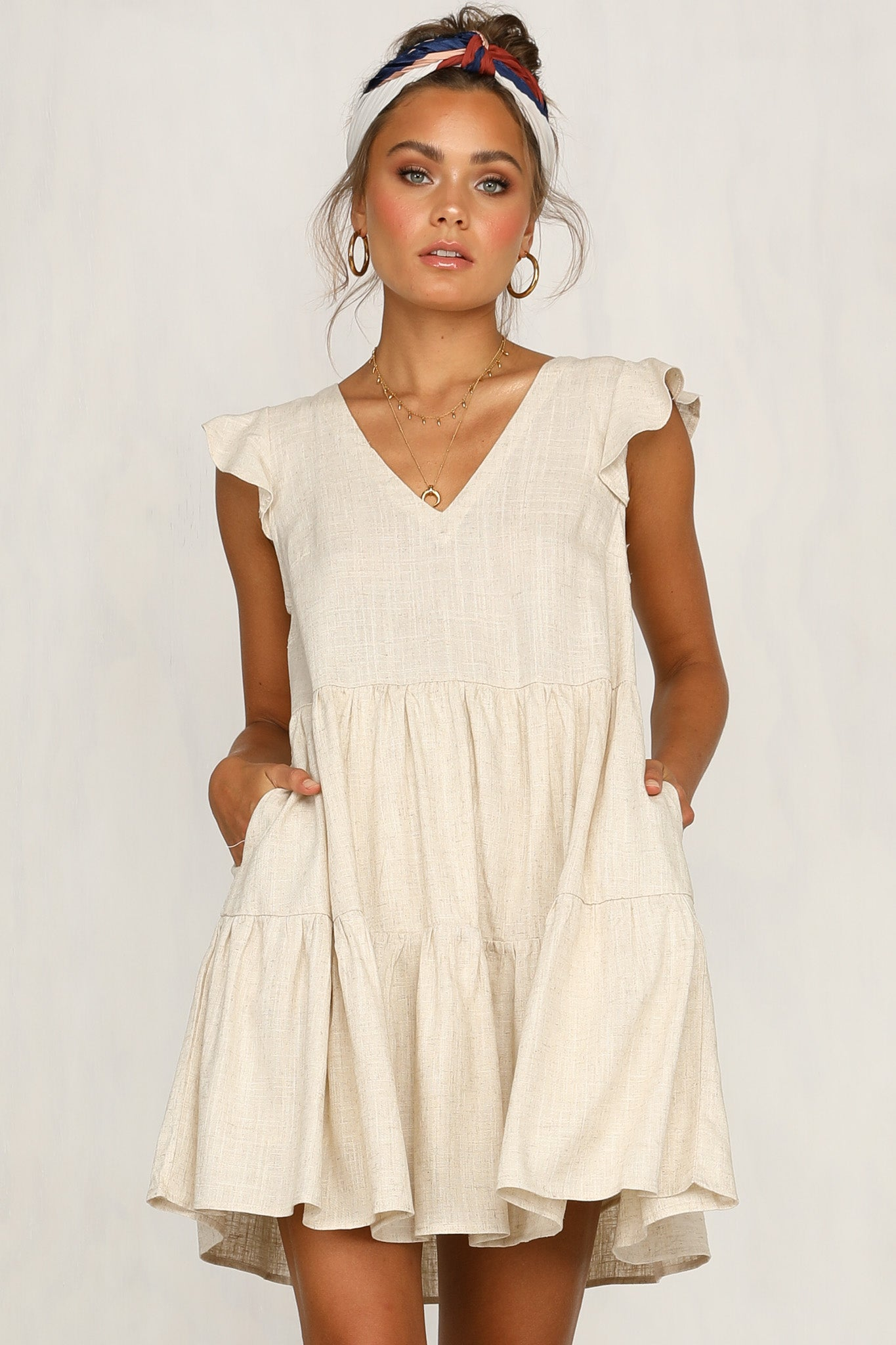 Jayne Dress (Beige)