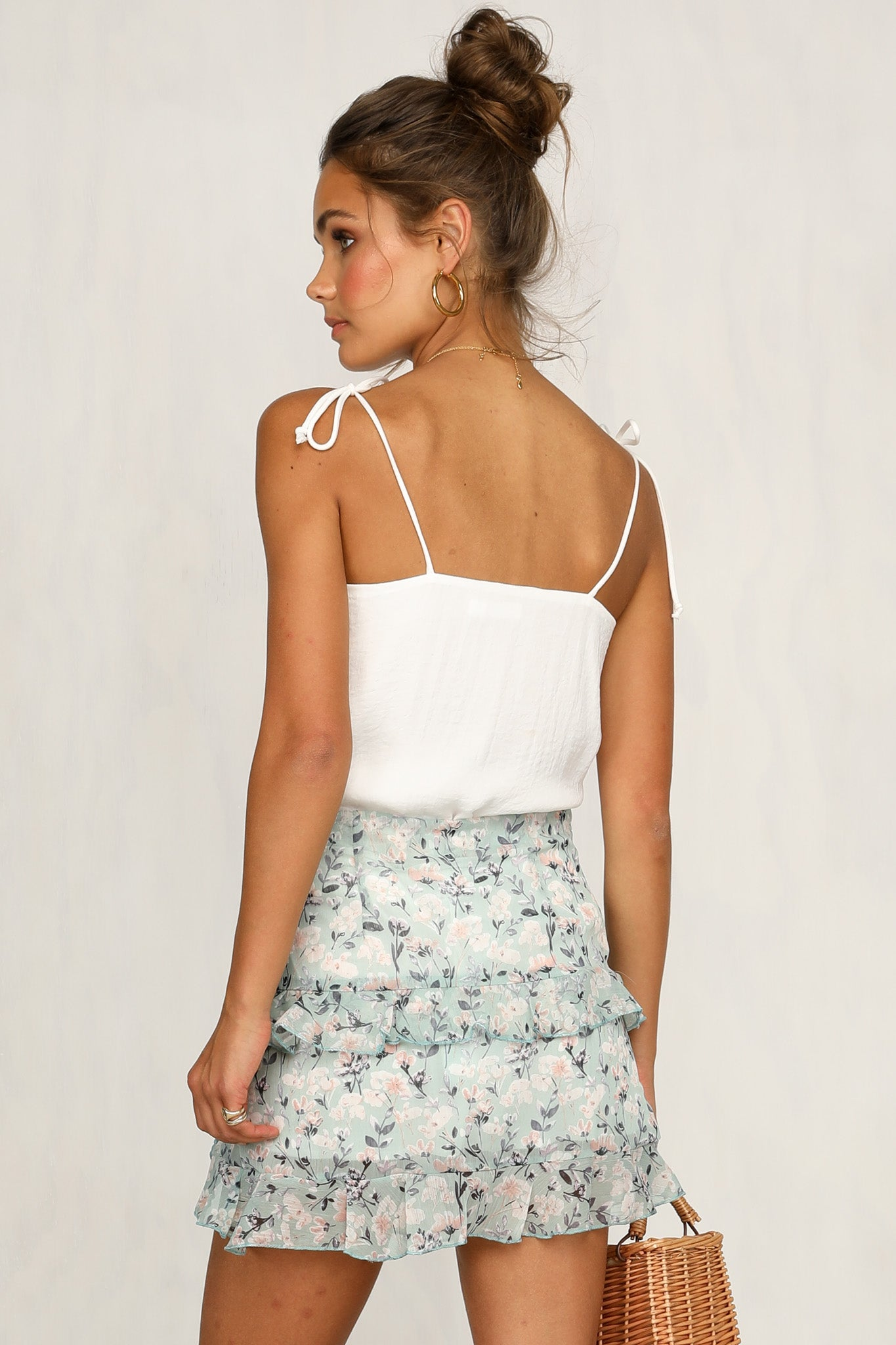 Feeling Something Skirt (Light Blue)