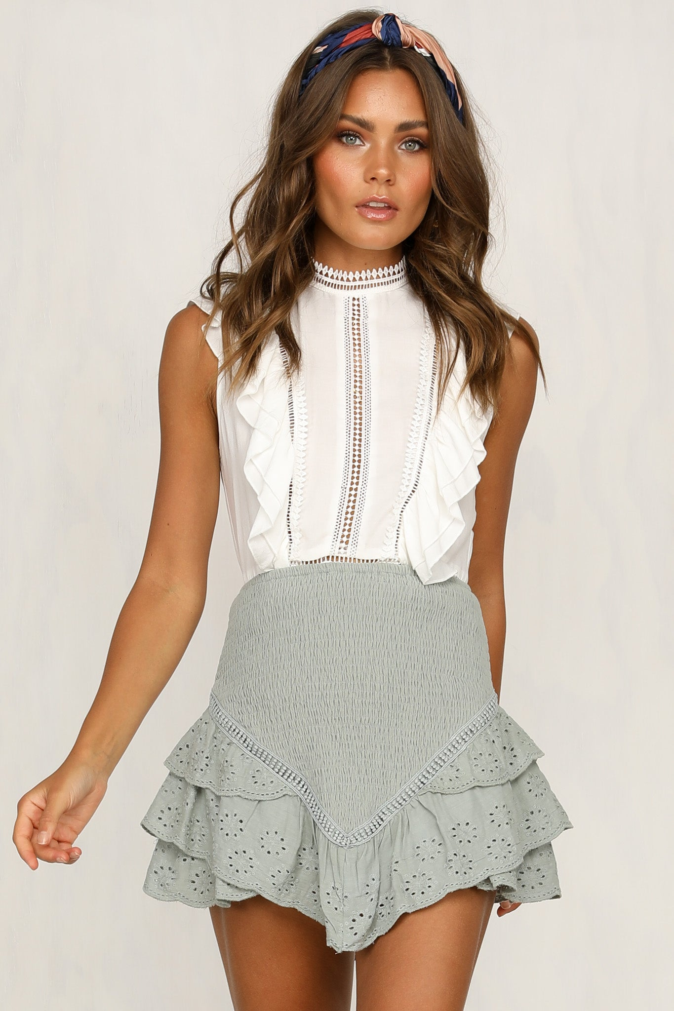 Shy Girl Skirt (Sage)