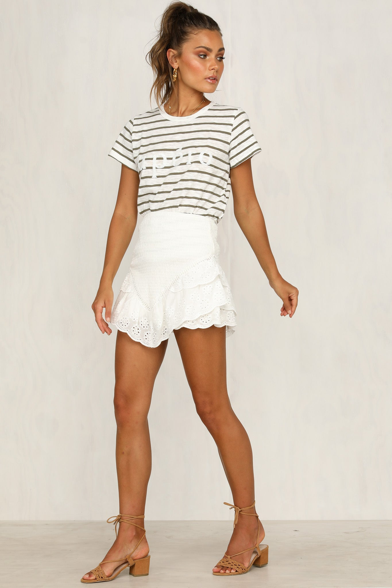Shy Girl Skirt (White)