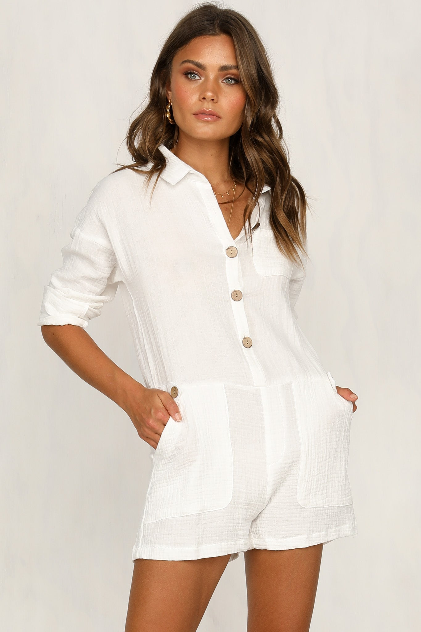 Join The Club Playsuit (White)