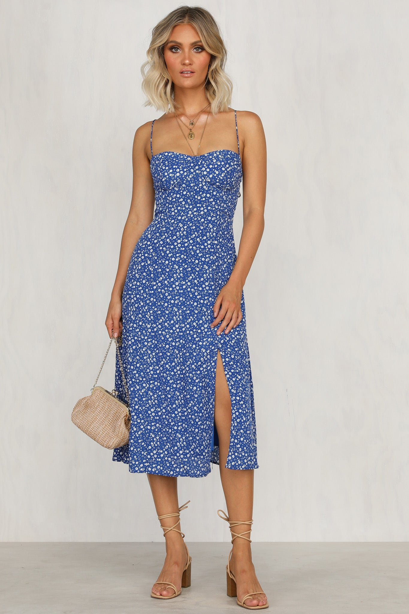 Summer Sun Dress (Blue Floral)