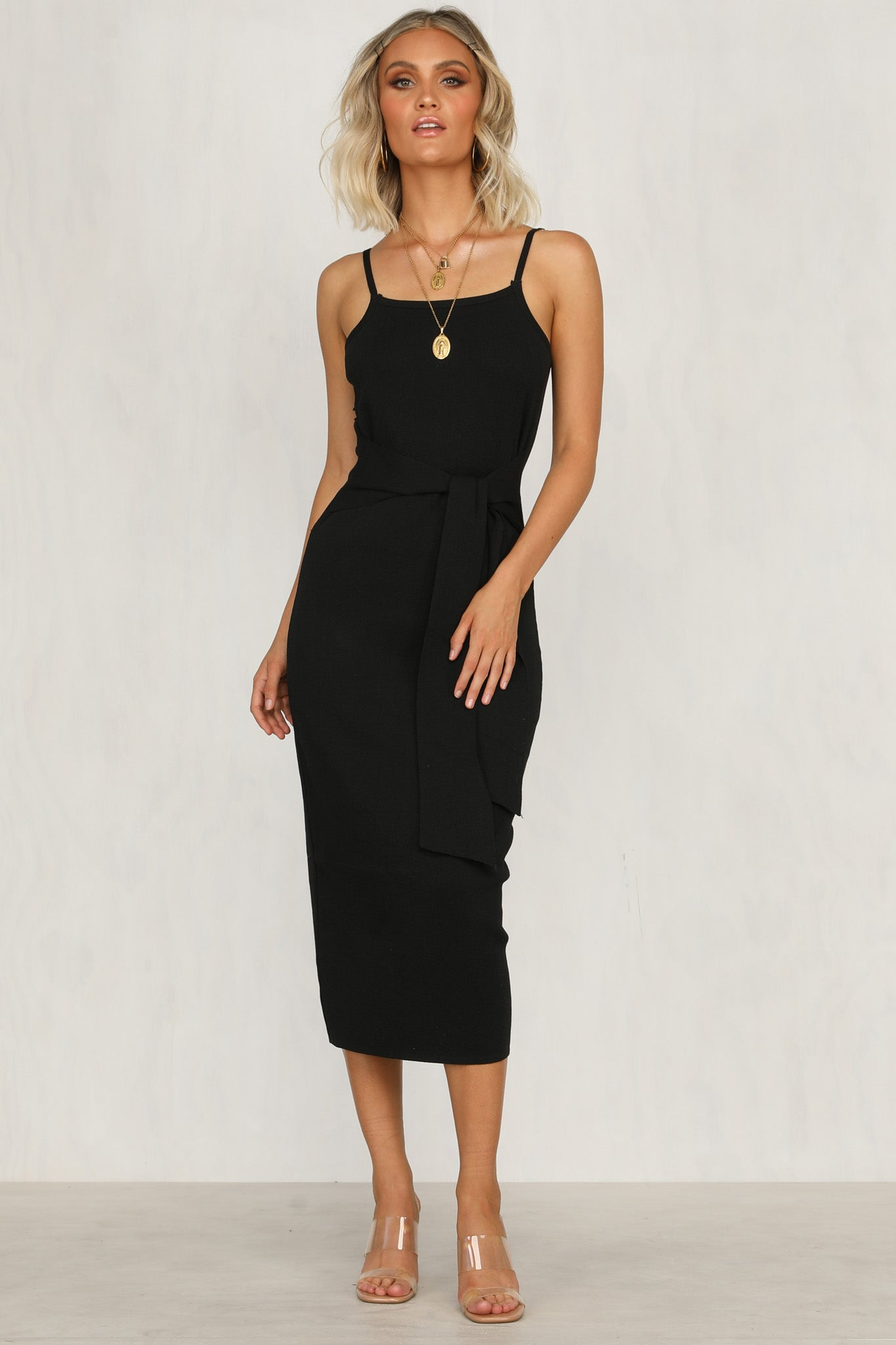 Scope You Out Dress (Black)