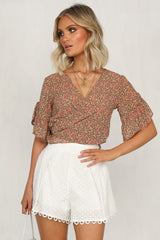 Discovery Top (Black Floral)