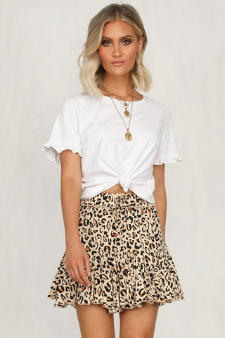 Moment In Time Skirt (Leopard)