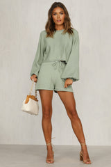 Chantelle Knit Shorts (Sage)