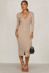 Freja Knit Dress (Mocha)